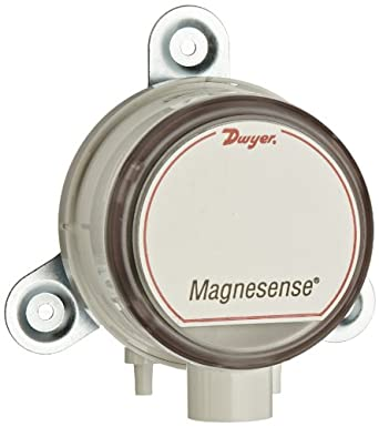 """Dwyer Magnesense Series MS Differential Pressure Transmitter, Positive Only Unit, 4-20 mA, High Range 1, 2, 5""""WC & 250, 500, 1250 Pa, Wall Mount"""