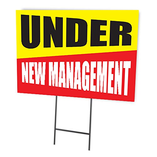 Under New Management Full Color Double Sided Sign ()