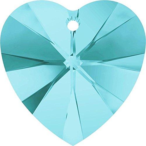 (6228 Swarovski Pendant Xilion Heart Light Turquoise | 10mm - Pack of 4 | Small & Wholesale Packs)