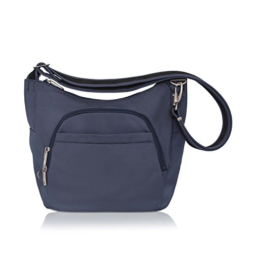 Travelon Anti-Theft Cross-Body Bucket Bag (Blue - Exclusive Color) - Exclusive Water