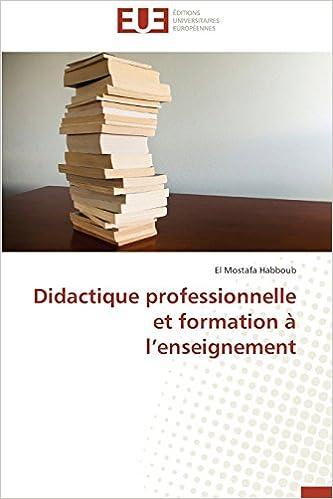 Livres gratuits en ligne Didactique professionnelle et formation à l'enseignement pdf epub