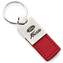 DanteGTS - Ford Fiesta Red Leather Car Fob Key Chain Ring