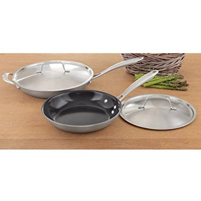 Cuisinart GreenGourmet Tri-Ply Stainless Covered Skillet