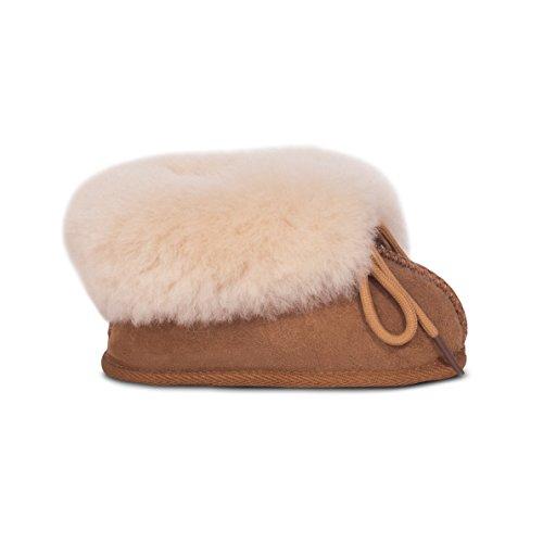 (RJ's Fuzzies Sheepskin Baby Booties - Size S Chestnut)