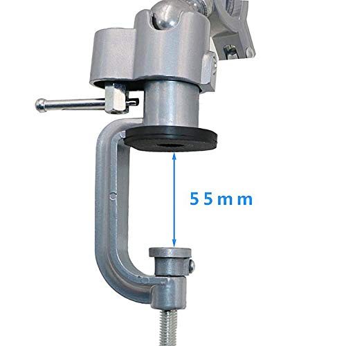 peque/ño universal Micro tornillo de banco giratorio de 360 grados para bricolaje multidireccional