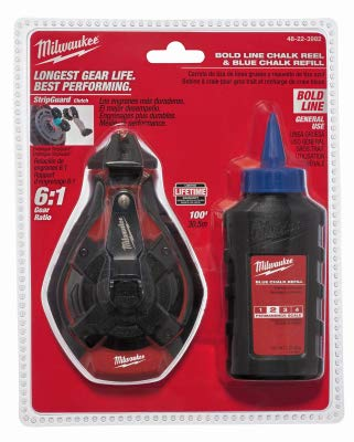 Carte But Retractation.Milwaukee Electric Tool 48 22 3982 100 Ft Bold Line Chalk Reel And