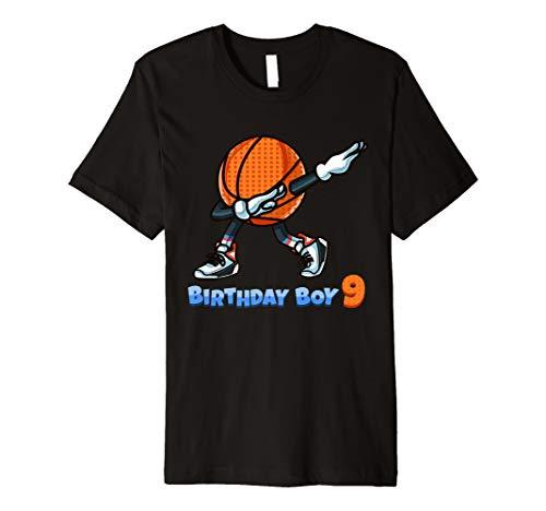 Funny Dabbing Basketball Ball 9th Birthday Boy 9 Years Old Premium T-Shirt