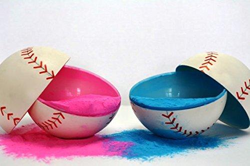 2 Gender Reveal Baseballs Pink & Blue