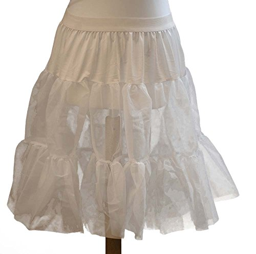 Steampunk-Cosplay-Pirate-Dames-Stage-Jive-Rock&Roll WHITE PETTICOAT - One Size (Rock And Roll Costumes Dance)