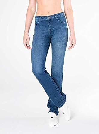 Calça Jeans Bootcut cintura alta azul
