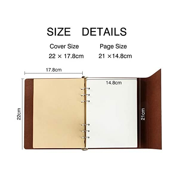VEESUN Diario di Viaggio A5, Taccuino Vintage in Pelle Blank Notebook Travel Diario, Creative Ricaricabile Journal… 3 spesavip