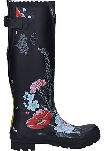 Noir Welly Print Pluie Bottines Bottes Floral black Joules Blkflrl Femme amp; De 8dqwcO
