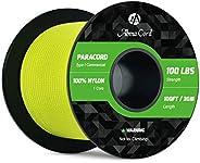 Abma Cord Paracord 1 Inner Strand 100% Nylon Parachute Cord - 100lb Breaking Strength