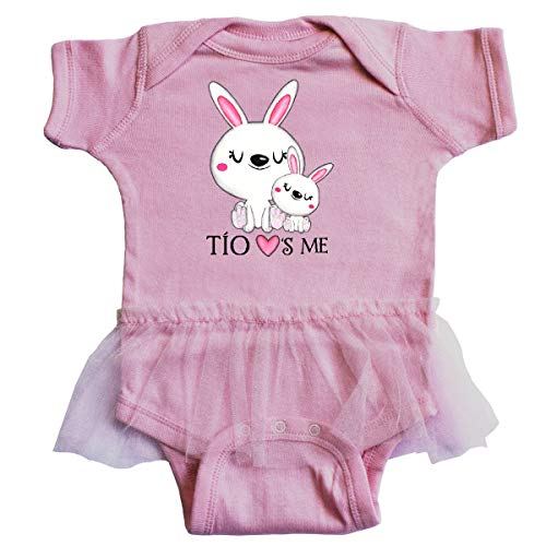 inktastic - Tío Loves Me- Bunny Family Infant Tutu Bodysuit Newborn Pink -