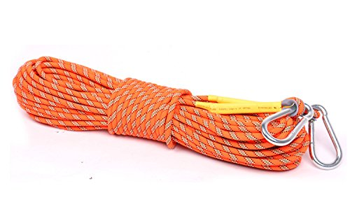 Outdoor Climbing Rope 10M(32ft) 20M(64ft) 30M (98ft) Static Rock Climbing Rope, Escape Rope Climbing Equipment Fire Rescue Parachute Rope