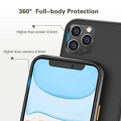 BLAVOR Phone Case for iPhone 11 pro 5.8 inch, Frosted iPhone Case Cover Anti-Fingerprints/Scratch-Proof/Drop Protection(3 Pack)