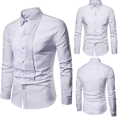 QBQCBB Mens Fashion Pure Color Shirts Printed Casual for sale  Delivered anywhere in USA
