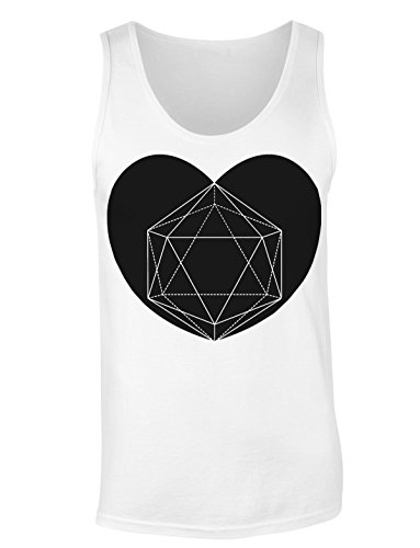 Geometrical Love Big Heart T-shirt senza maniche per Donne Shirt