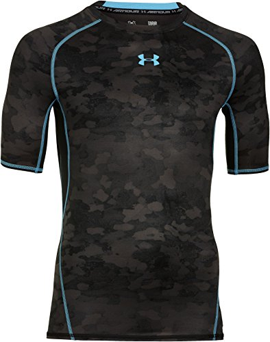 Under Armour HeatGear Printed Compression Short Sleeve T-Shirt - SS15 - Small - Black by Under Armour (Image #1)