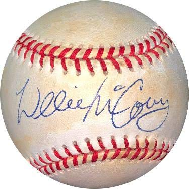 Willie McCovey Signed Baseball - RONL Rawlings Official National League toned Hologram #EE41621 Padres) - JSA Certified