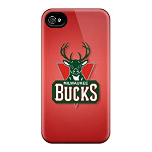 New Arrival Cover Case With Nice Design For Iphone 4/4s- Milwaukee Bucks