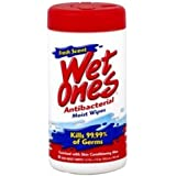Wet Ones Antibacterial Moist Wipes, Fresh Scent, Canisters, 40 Ea, (Pack of 6)