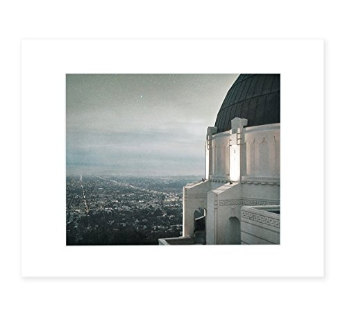 Los Angeles City Art Landscape, Griffith Observatory Skyline Urban Wall Decor, 8x10 Matted Photography Print, 'The Sky At - Frame Sky Los Angeles