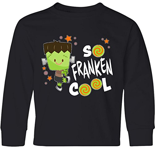 inktastic - So Franken Cool- Youth Long Sleeve T-Shirt Youth Medium Black 3163d ()