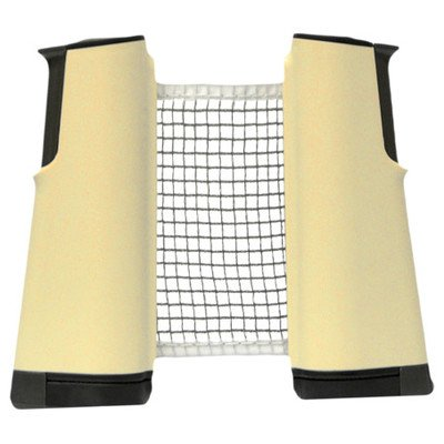 Martin Kilpatrick Stretch Table Tennis Net Set - Play Ping Pong Anywhere - Fits Tables Up To 2 in Thick - 6 ft Long Net