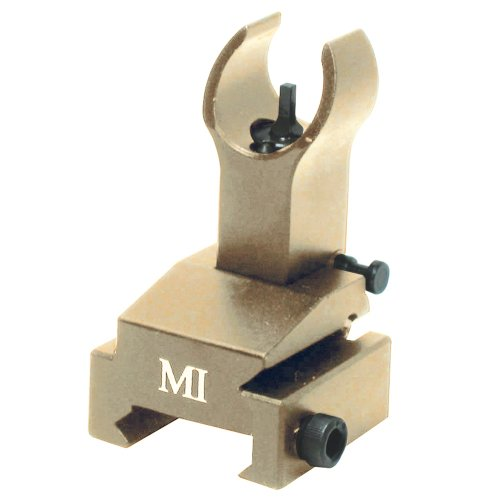 Midwest Industries Flip-Up Front Sights Gas Block, Flat Dark Earth (Pivot Block Aluminum Front)