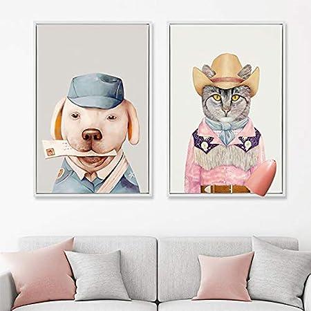 Outflower Mod/èle Animal Poster M/étallique,Vintage Plaque M/étallique D/écorative Mural R/étro Affiche Peinture Art D/écoratif pour Cuisine Bar Restaurant Maison Caf/é-20 30CM