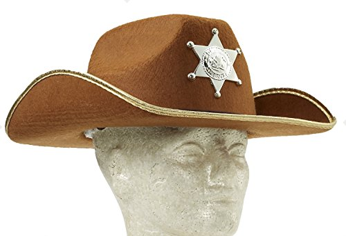 Cowboy Child Costumes (Forum Child Cowboy Hat with Badge, Brown)