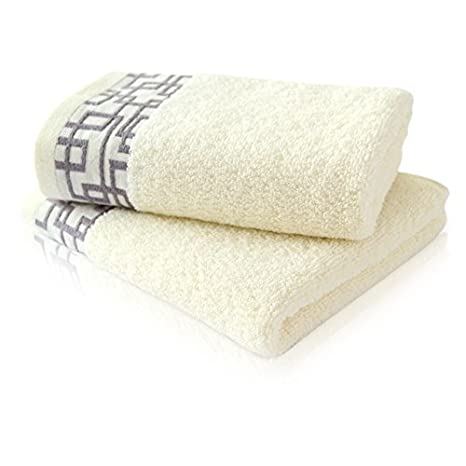 100% algodón 13 * 29 pulgada ventana Entramado Patrón toallas de mano toalla de playa tinte Gridiron lujo estilo de hilo sin: Amazon.es: Hogar