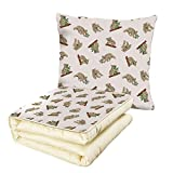 iPrint Quilt Dual-Use Pillow Tropical Animals Koala Pattern Design Mammals of Nature Nursery Australian Animals Baby Multifunctional Air-Conditioning Quilt Grey White