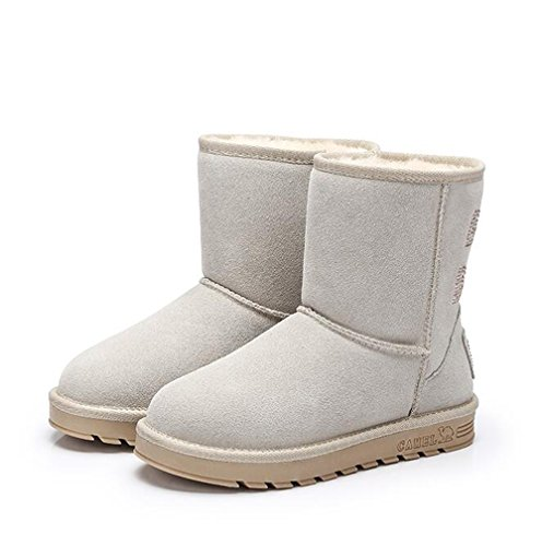 CAMEL Womens Snow Boots With Warm Fur White GoPIsz