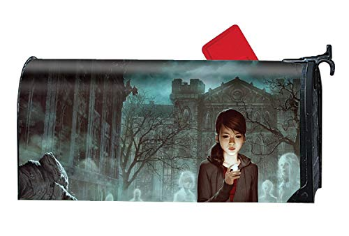 Hotspot Stylish Customized Printed Magnetic Mailbox Cover Dark Ghost Mail Box Wrap Standard ()
