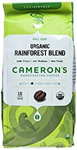 Cameron's Organic Rainforest Blend Whole Bean Coffee, 12-Ounce Bags (Pack of 3)