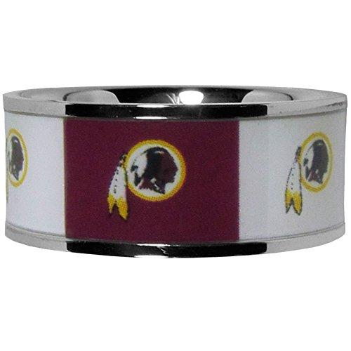 NFL Washington Redskins Steel Inlaid Ring Size 10
