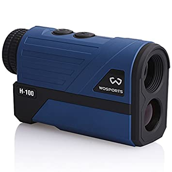Wosports Golf Rangefinder, 650 Yards Laser Range Finder with Slope, Flag-Lock with Vibration Distance Speed Angle Measurement, Upgraded Battery Cover