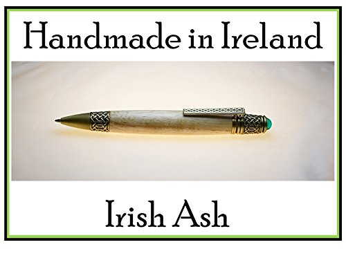 Irish handmade Celtic knot pen made with Irish Ash you can personalize the pen body best pen for smooth writing rollerball pen a gift writers would love Irish gifts made in Ireland by Irish Pens
