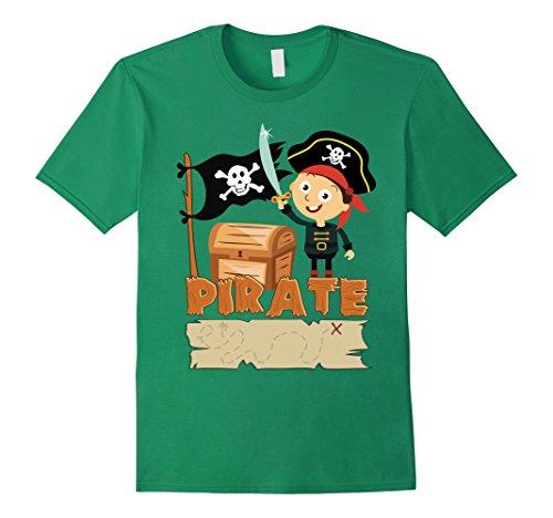 Mens Skull & Crossbones T-shirt Pirate Flag Sailor Shirts/Tee XL Kelly (Funny Cross Dressing Costumes)