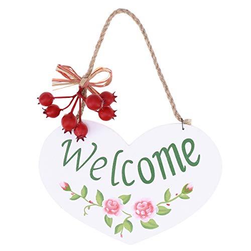 - BESTOYARD Welcome Door Signs Decorative Wood Hanging Door Sign Front Door Home Decorations
