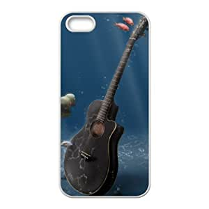 The Guitar CHA1055470 Phone Back Case Customized Art Print Design Hard Shell Protection Iphone 5,5S