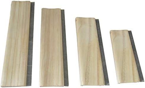 Silk 65 Hardness Screen Printing Squeegee Blade Wood Handle Scraper 15cm
