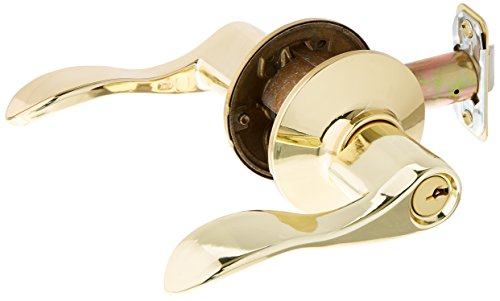 Panic Schlage Hardware (Schlage Lock Company F51ACC605KA4 Accent Keyed Entry Panic Proof Door Lever, Polished Brass)