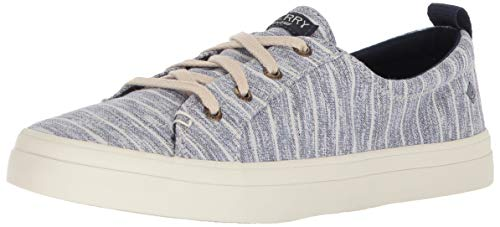 Marine Vibe Sperry sider Top Stripe Crest Femme Painterly Rayures Bleu À qxAHnUpw
