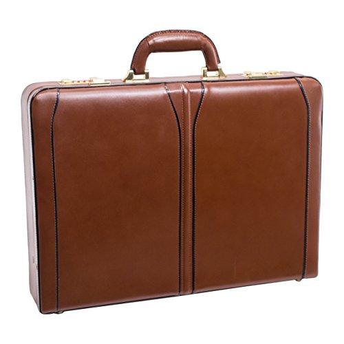 Attache Case, Leather, Mid-Size, Brown - LAWSON | McKlein - 80454