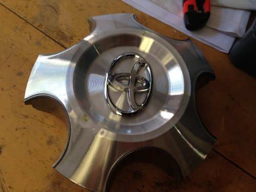 20 Inch OEM 2007 2008 2009 2010 2011 2012 2013 Toyota Tundra / Sequoia Factory Original Wheel Rim Cover Center Cap Hubcap Mfg P/n:42603-0C100 Machined Raised Chrome Logo