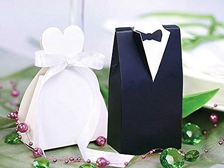 Caja de regalo de pareja de novios de regalo de boda de la novia y el novio 20 pcs: Amazon.es: Hogar