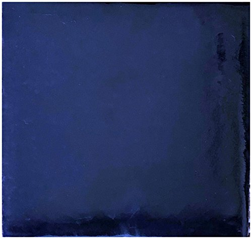 (Rustico Tile and Stone TR4COBALT Cobalt Blue Painted Tile Box of 90, 4 x 4